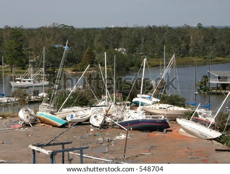 Hurricane Katrina 18 - stock photo