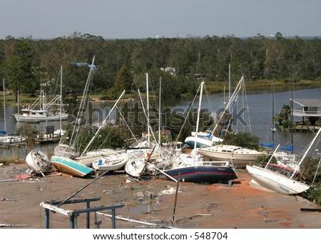 Hurricane Katrina 18 - stock photo