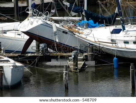 Hurricane Katrina 6 - stock photo