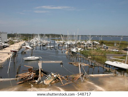 Hurricane Katrina 12 - stock photo