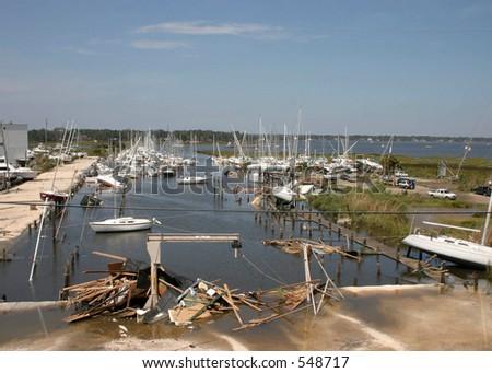 Hurricane Katrina 12 - stock photo