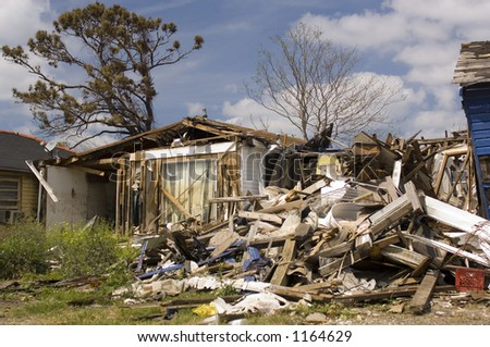 Hurricane Katrina damage - lower 9th ward - New Orleans, LA - stock photo