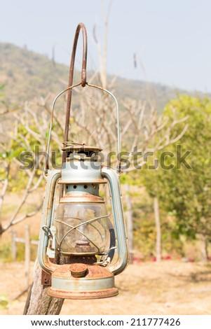 hurricane lamp - stock photo