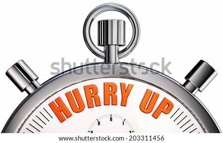 hurry up - stock photo
