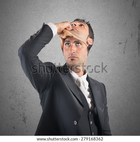 Husband false and lying in her marriage - stock photo
