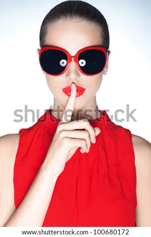 Hush - stock photo