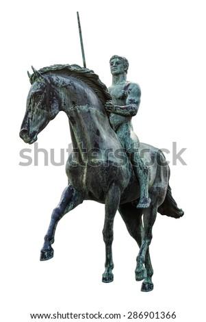 Hussar Monument in the City of Szekesfehervar - stock photo