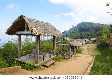 Hut on the mountain at Chiang Mai, Thailand