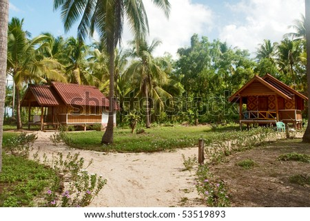 Hut resort. - stock photo
