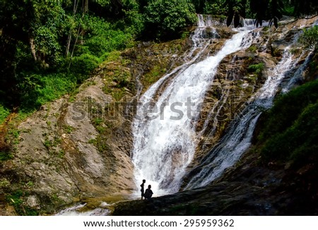 Hutan Lipur Lata Iskandar,Waterfalls at Cameron Highlands, Malaysia - stock photo