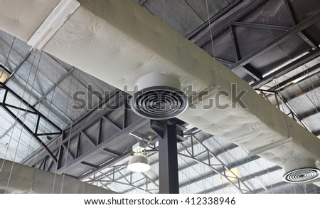 Hvac duct air conditioner ventilation pipes system