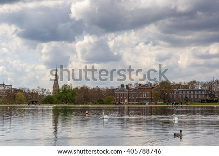 Hyde park in spring, London