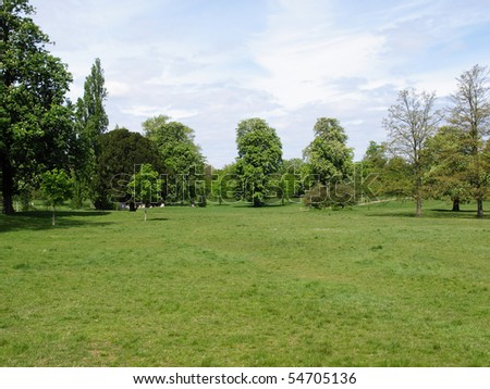 Hyde Park - Kensington Gardens in London, UK - stock photo