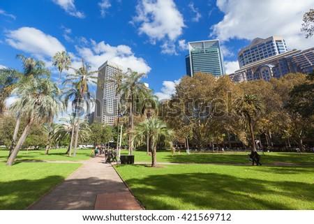 Hyde Park Sydney City - stock photo