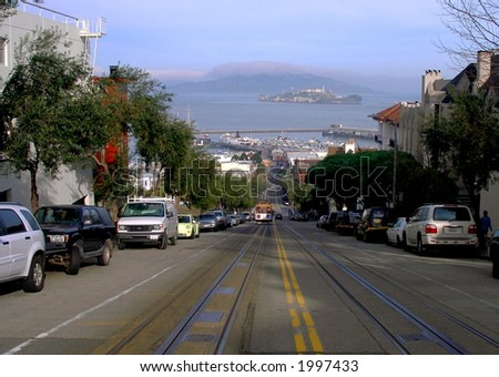 Hyde Street in San Francisco - stock photo