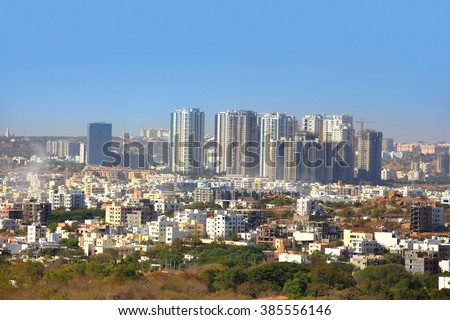 HYDERABAD INDIA -December 16 : Hyderabad is fifth largest contributor city to India's GDP with US$74 billion . On December 16,2016 Hyderabad, India - stock photo