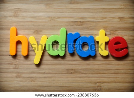 Hydrate concept - stock photo