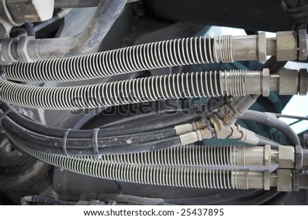 Hydraulic cable - stock photo