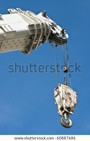 Hydraulic Crane as Construction Site Equipment - stock photo