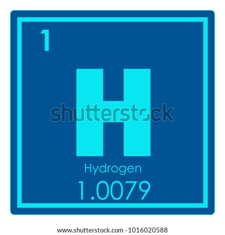 Hydrogen Chemical Element Periodic Table Science Stock Illustration