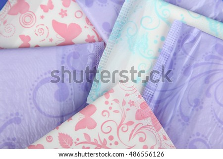 Hygiene feminine pads menstruation