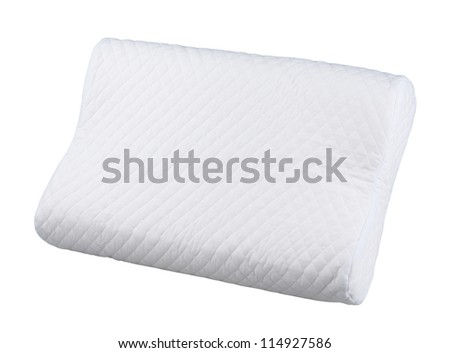 hygiene white pillow isolated on white background