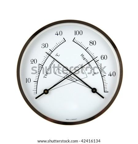 Hygrometer &  Temperature - stock photo