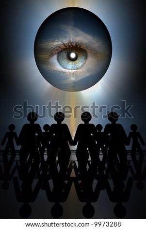 hypno eye - stock photo