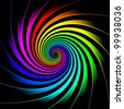 hypnosis rainbow - stock photo