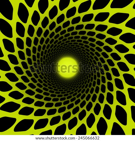 hypnosis spiral - stock photo