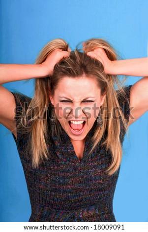 hysterics - stock photo