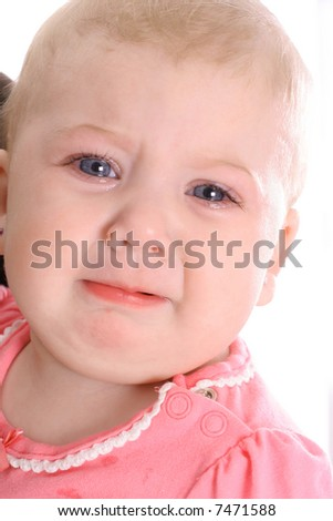 I am about cry - stock photo