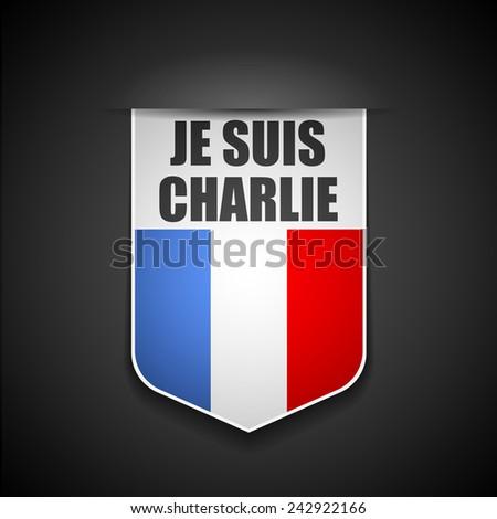 I am Charlie (Je Suis Charlie) - stock photo