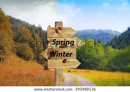 I arrive late winter spring