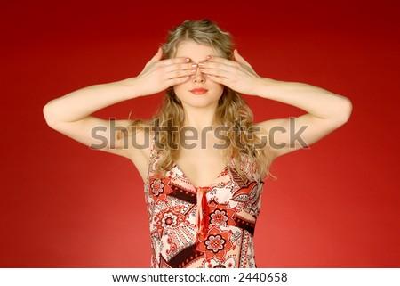 I do not see - stock photo