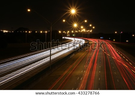I-95 Facing South Night