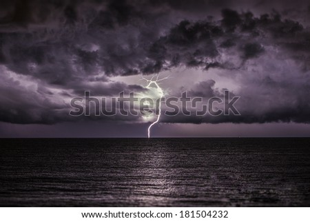 I have a question about storms - stock photo