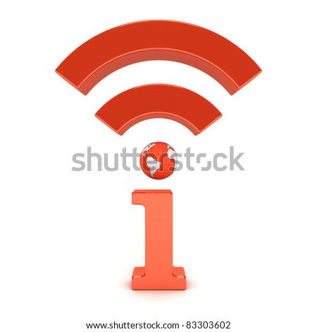I icon wireless wifi global technology