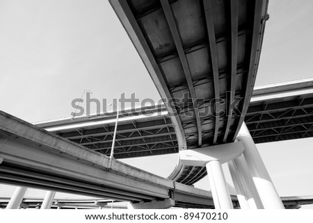 I-40 interstate overpass in Memphis, Tennessee - stock photo