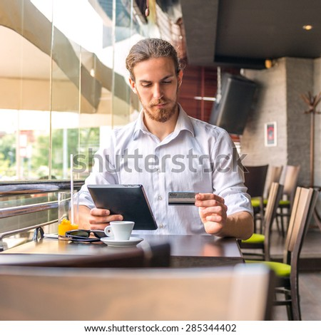 I'll pay with credit card - stock photo