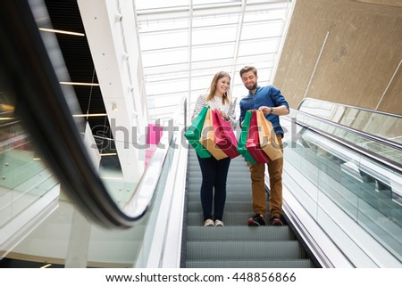 I'll show you what I bought - stock photo