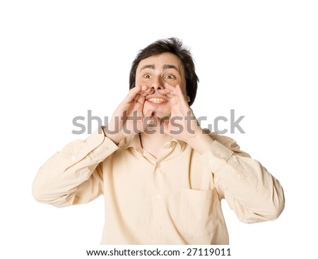 I'll tell you all - stock photo