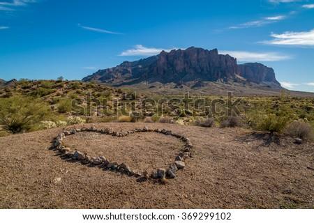 I love Hiking - stock photo