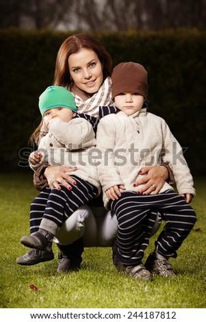 I love my sons - stock photo