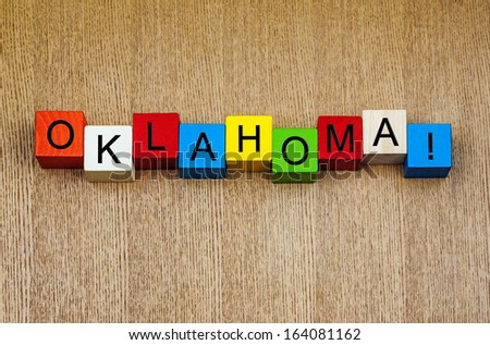I Love Oklahoma - sign series for USA states and travel destinations  - stock photo