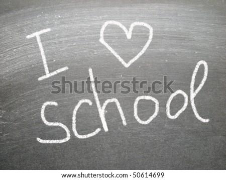 I love school - stock photo