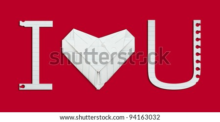 i love you alphabet paper - stock photo