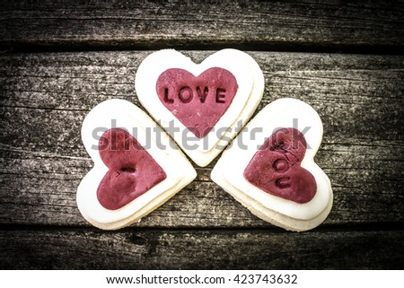 I Love You in Cookies.