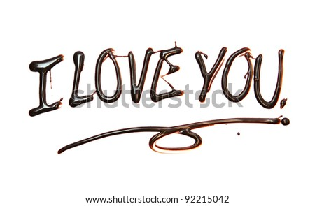 i love you Just for you text made of chocolate  design element. - stock photo