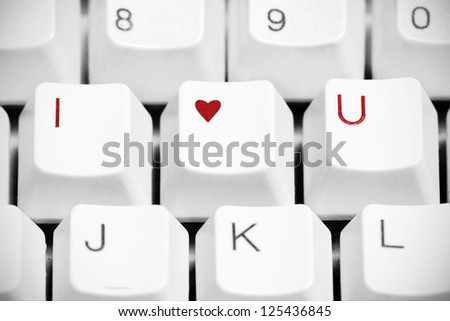 Love You Sign Made Computer Keyboard Stock Photo Royalty Free